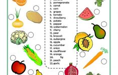 Vegetables Worksheets Printables