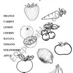 Fruits, Vegetables   Esl Worksheetjudyna | Vegetables Worksheets Printables