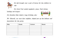 Gender Of Nouns Worksheet – Free Esl Printable Worksheets Made | Free Printable Worksheets On Genders