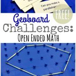Geoboard Activity Cards {Free Geometry Challenge} | Geoboard Printable Worksheets