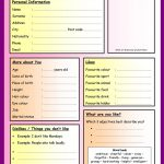 Getting To Know You   Questionnaire Worksheet   Free Esl Printable | Printable Getting To Know You Worksheets