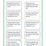 Giving Advice   Problem Cards Worksheet   Free Esl Printable   Giving Advice Printable Worksheets