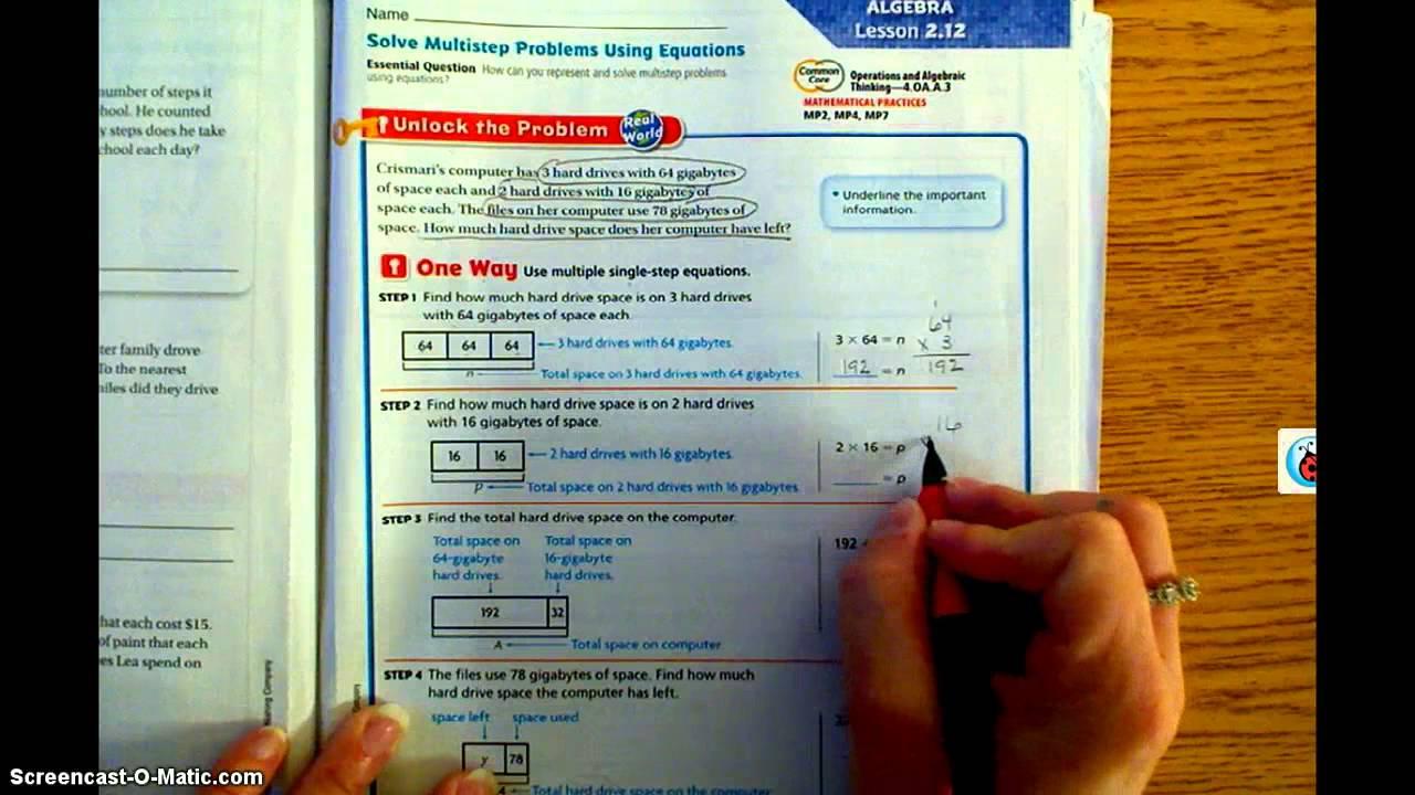 Go Math Lesson 2.12 - Youtube | Go Math 4Th Grade Printable Worksheets