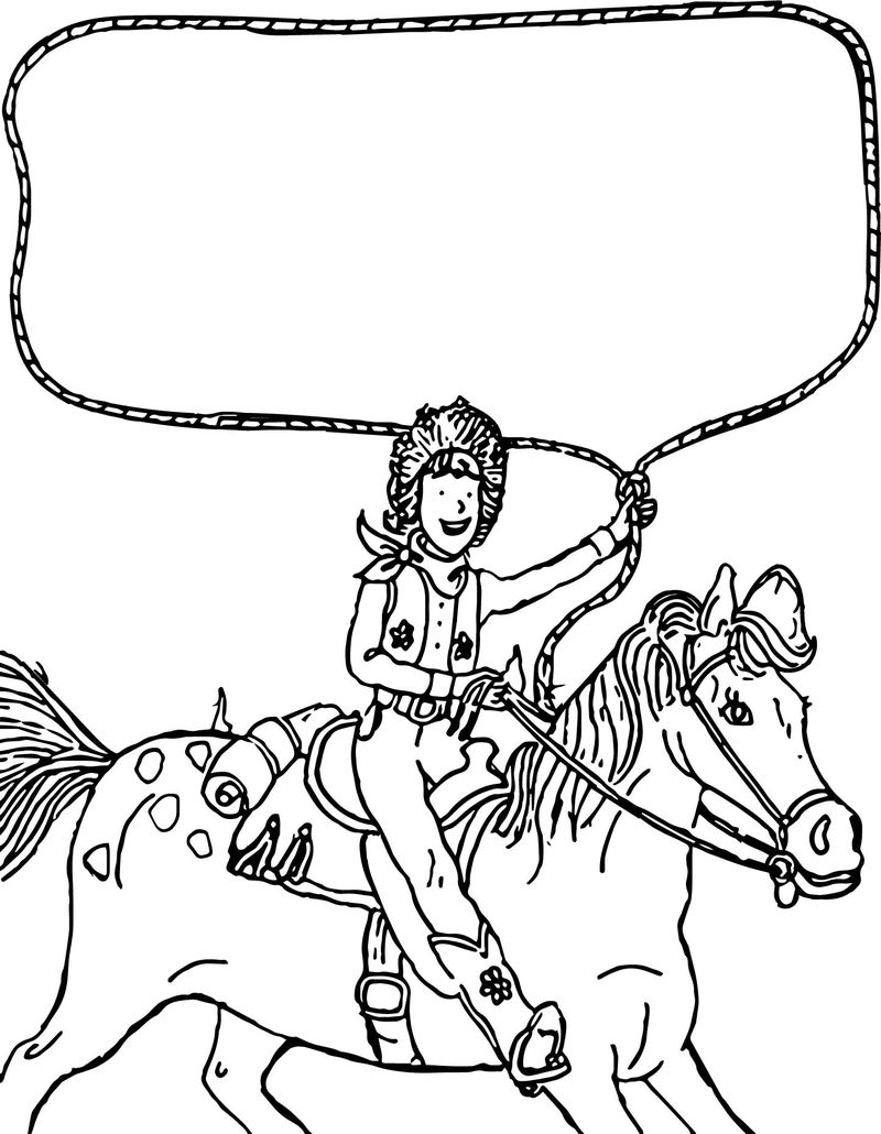 Go West Amelia Bedelia On The Horse Coloring Page » Printable | Amelia Bedelia Printable Worksheets