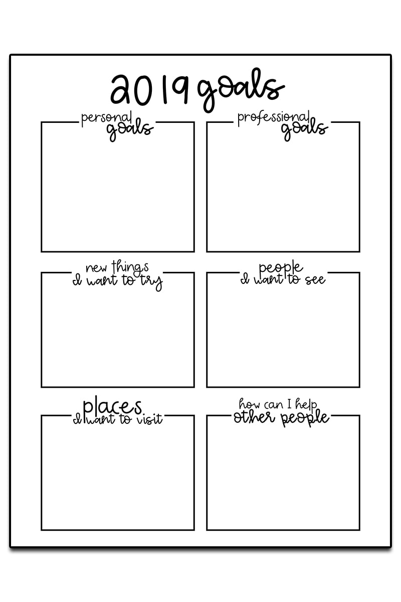 Goal Setting Worksheets - 3 Free Goal Planner Printables | Free Printable Goal Setting Worksheets For Students