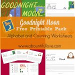 Goodnight Moon Free Printable Pack   A Bountiful Love | Goodnight Moon Printable Worksheets