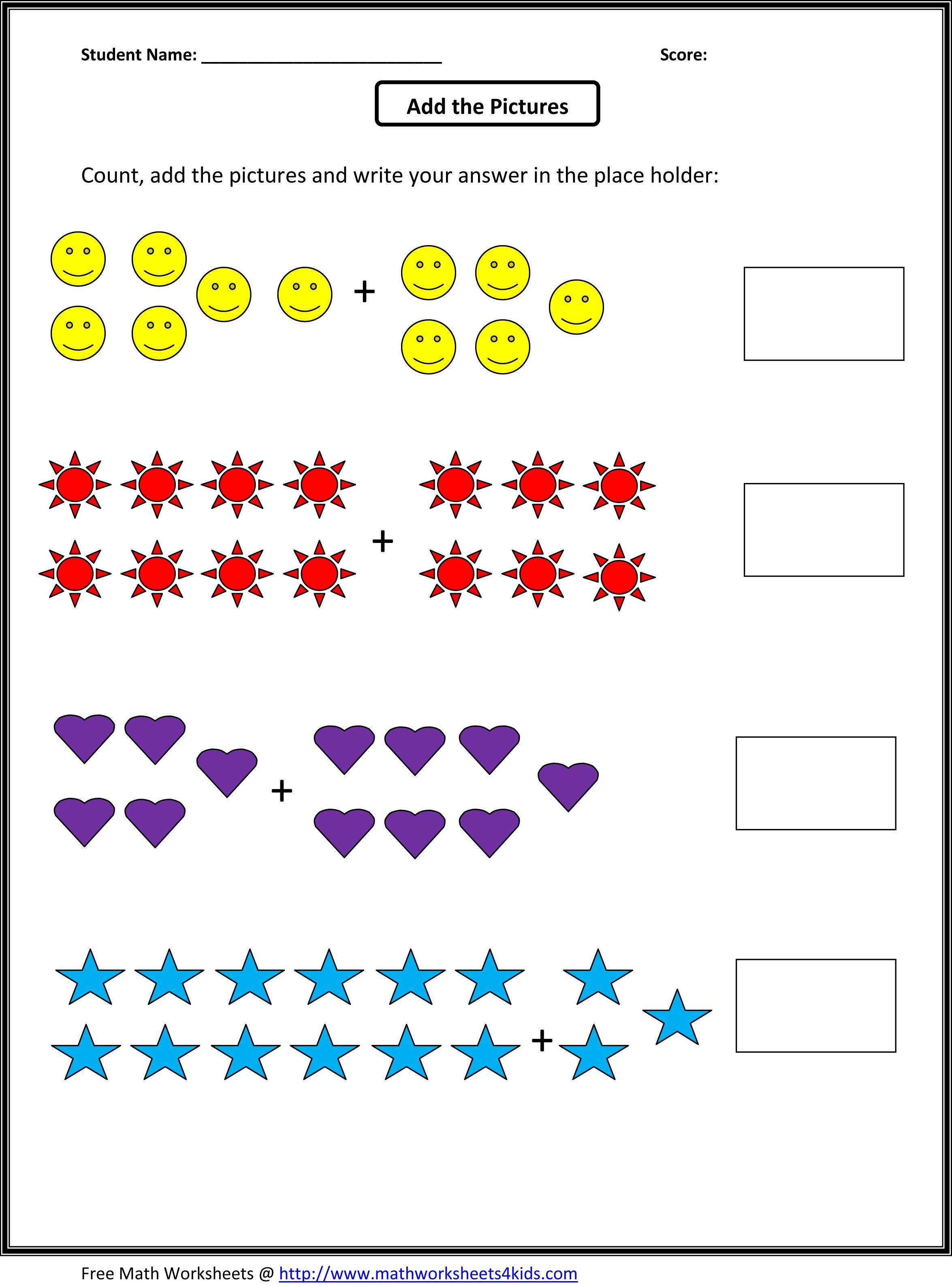 Grade 1 Addition Math Worksheets | First Grade Math Worksheets | Printable Math Worksheets For Grade 1