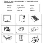 Grade 1 Worksheets For Children Learning Exercise | Summmer Vacation | Parts Of The Computer Worksheet Printable