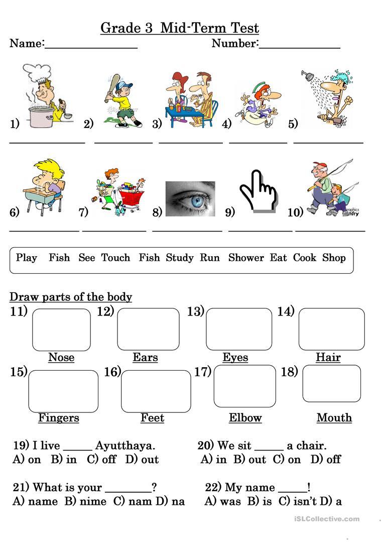 Grade 3 Test Worksheet - Free Esl Printable Worksheets Madeteachers | Printable Worksheets For Year 3