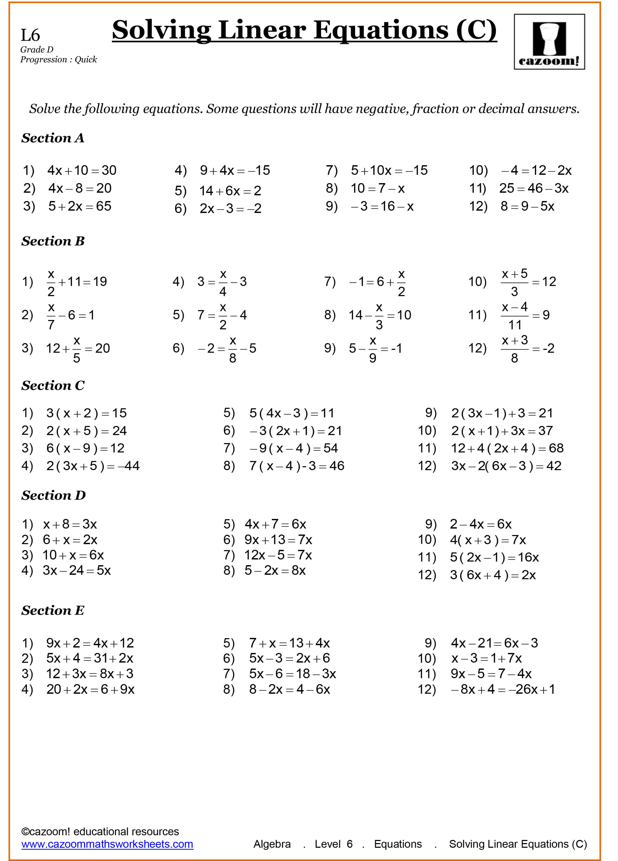Grade 9 Math Worksheets Printable Free With Answers | Free Printables | Grade 9 Math Worksheets Printable Free With Answers
