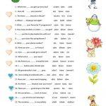 Grammar Test Worksheet   Free Esl Printable Worksheets Made   Free | Test Worksheets Printable