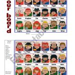 Guess Who Board Game   Esl Worksheetportugal | Guess Who Printable Worksheets