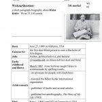 Guided Writing   Writing A Biography ( Helen Keller) Worksheet | Printable Biography Worksheets