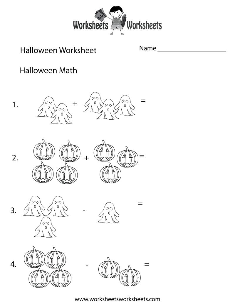 Halloween Math Worksheet - Free Printable Educational Worksheet | Printable Halloween Math Worksheets