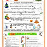 Halloween   Reading Worksheet   Free Esl Printable Worksheets Made | Printable Worksheets Esl Students