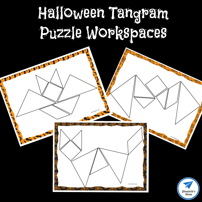 Halloween Themed Printable Tangram Puzzles - Jdaniel4S Mom | Printable Tangram Worksheets