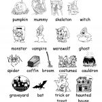 Halloween Vocabulary Printables | Halloween Arts   Free Printable | Free Printable Halloween Worksheets