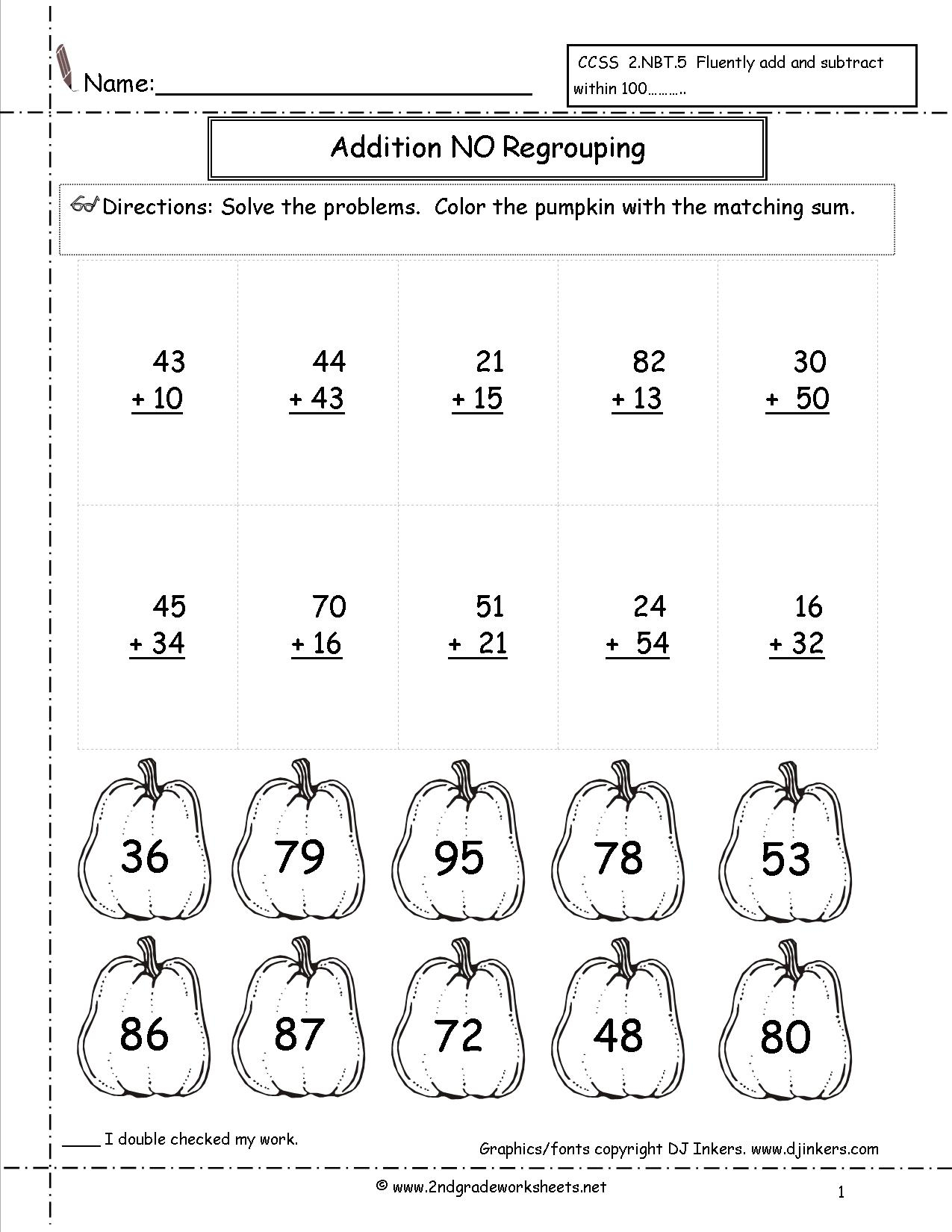 Halloween Worksheets And Printouts | Printable Halloween Math Worksheets