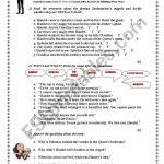 Hamlet Reading Test (With Key)   Esl Worksheetjoebcn | Hamlet Printable Worksheets