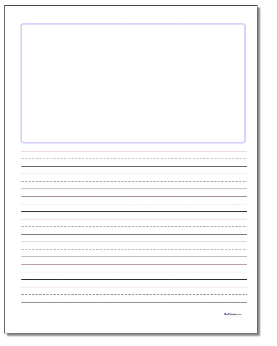 Handwriting Paper | Blank Handwriting Worksheets Printable Free