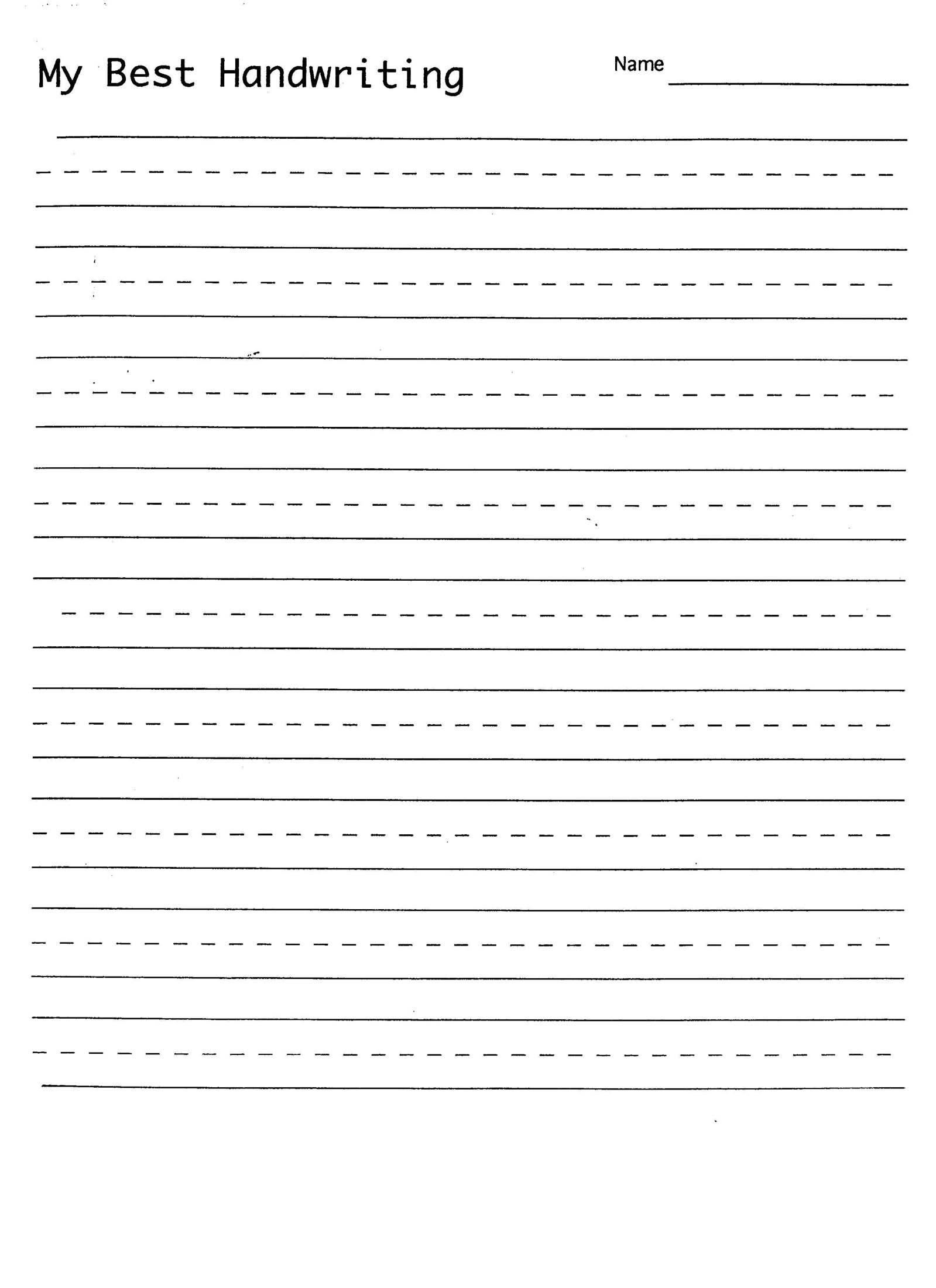 Handwriting Practice Sheet   1St Grade Handwriting   Writing   Printable Writing Worksheets