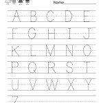 Handwriting Practice Worksheet   Free Kindergarten English Worksheet | Free Printable Writing Worksheets