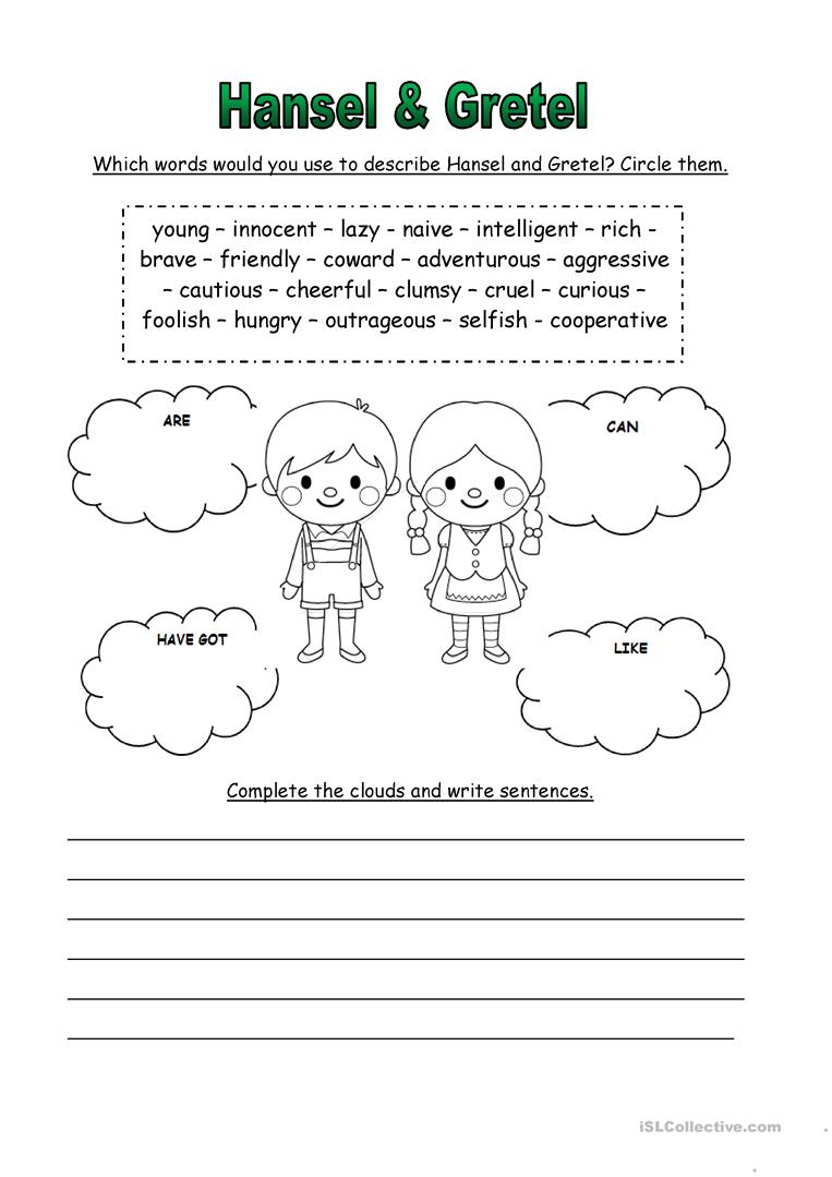 Hansel & Gretel Worksheet - Free Esl Printable Worksheets Made | Hansel And Gretel Printable Worksheets