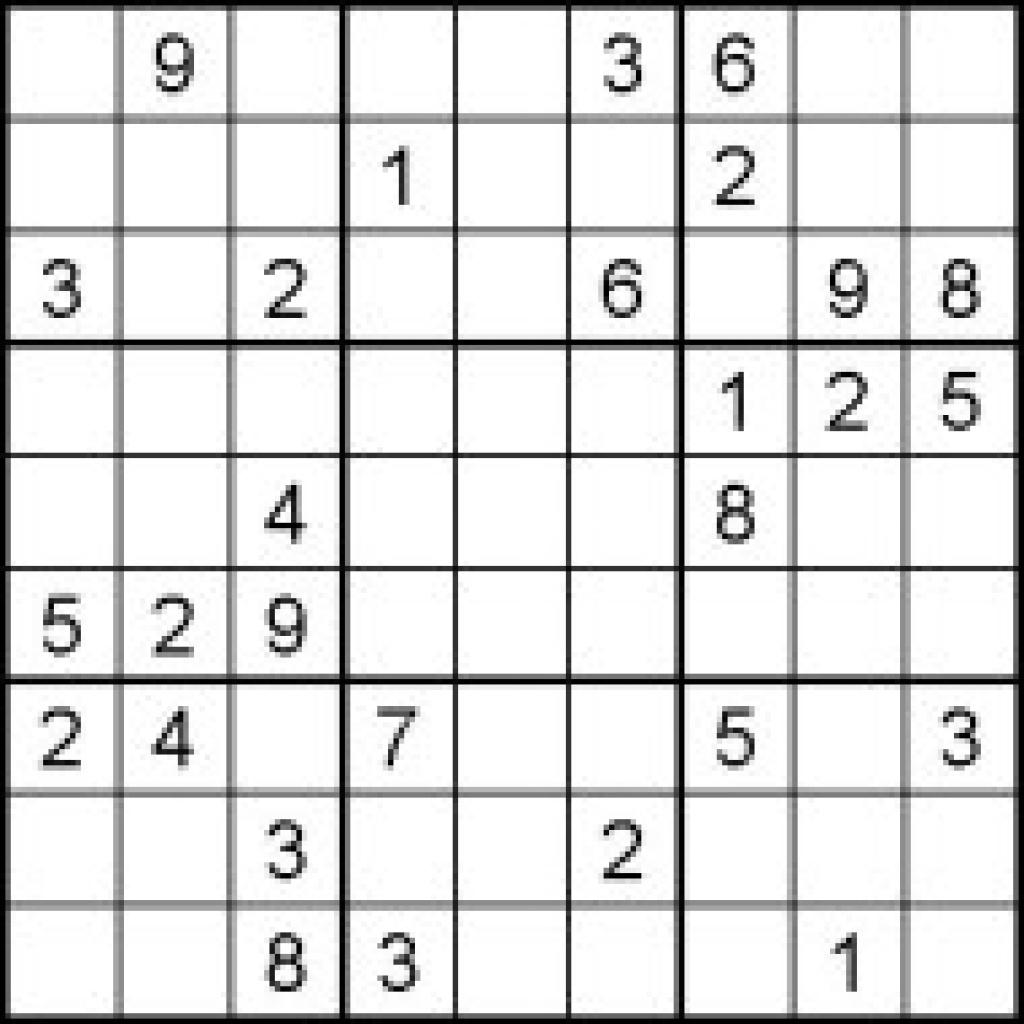 Hard Sudoku Puzzles For Kids - Free Printable Worksheets Pertaining | Printable Sudoku Worksheets