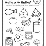 Healthy Or Not Worksheets.001 | Ot Life | Kindergarten Worksheets | Free Printable Healthy Eating Worksheets