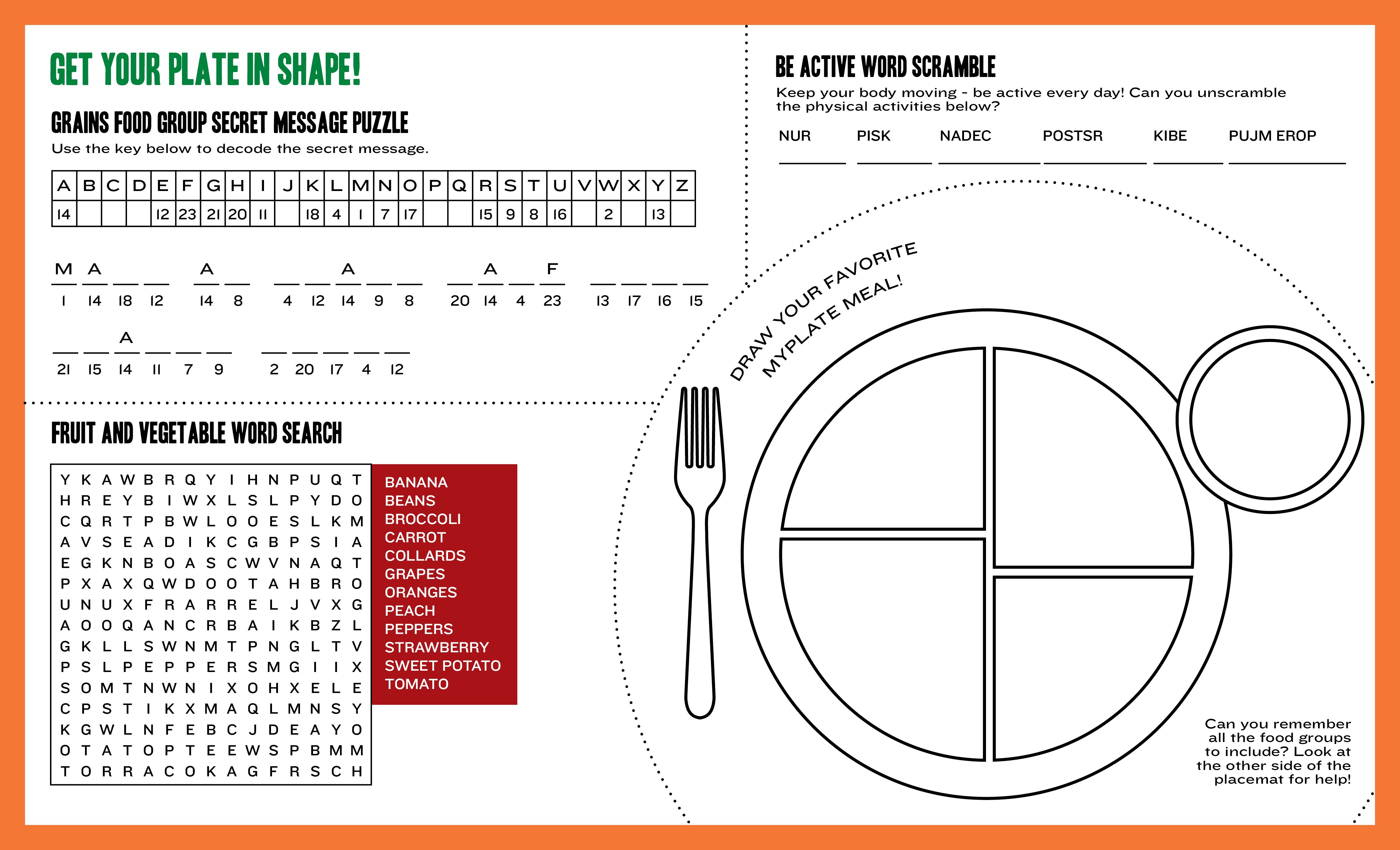 Healthy Plate Template. Empty Food Plate Template Healthy Eating | Choose My Plate Printable Worksheets