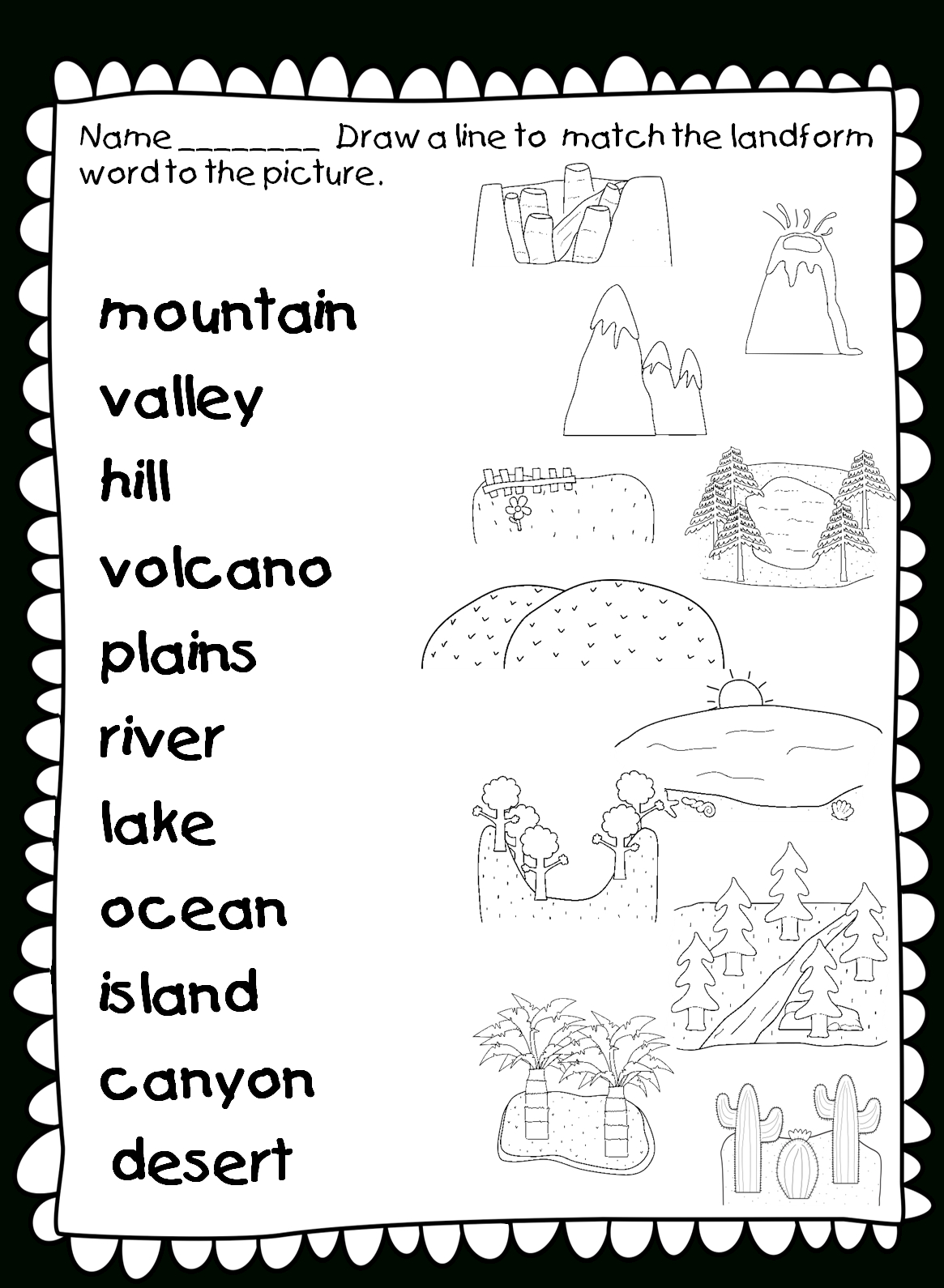 Hello Everyone! One Wonderful Perk About The 15 Hour Drive Home? I | Free Printable Landform Worksheets