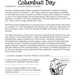 Here's An Easy Free Comprehension Worksheet About The History Of | Christopher Columbus Printable Worksheets
