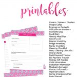 Household Binder Free Printables   Sarah Titus | Free Printable Home Organization Worksheets