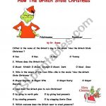 How The Grinch Stole Christma   Esl Worksheetajarnglyn | Free Printable Grinch Worksheets