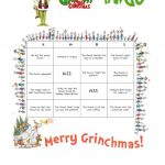 How The Grinch Stole Christmas (2000 Film) Bingo Worksheet   Free | Free Printable Grinch Worksheets