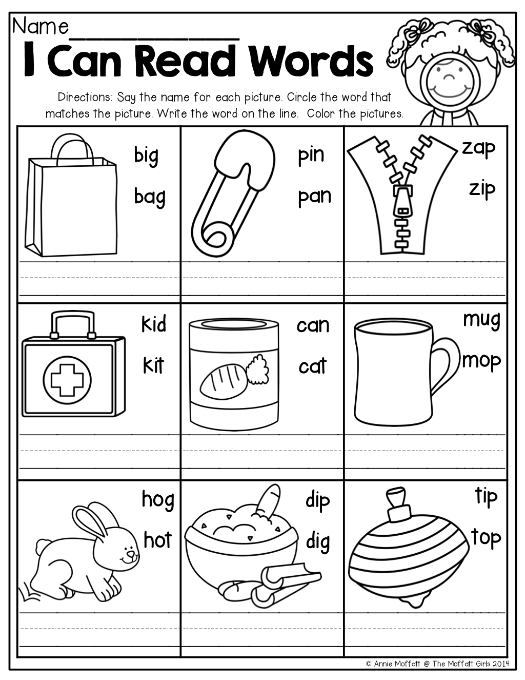 I Can Read Words! | | Kindergarten | | Cvc Worksheets, Kindergarten | Free Printable Kindergarten Worksheets Color Words