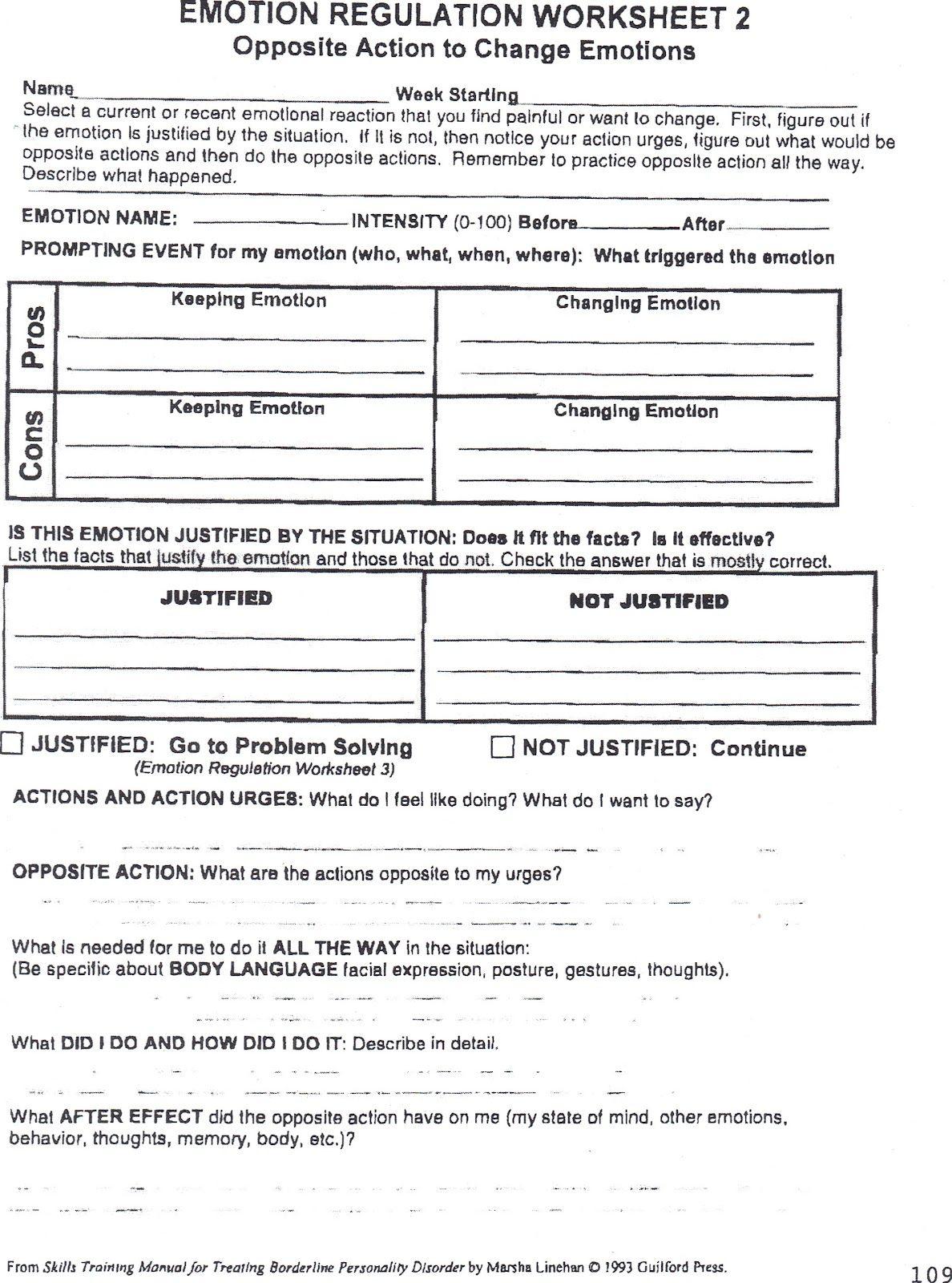 Impulse Control Disorder Treatment Worksheets - Google Search | Impulse Control Worksheets Printable