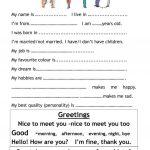 Introduce Myself Worksheet   Free Esl Printable Worksheets Made | Introduce Yourself Printable Worksheets