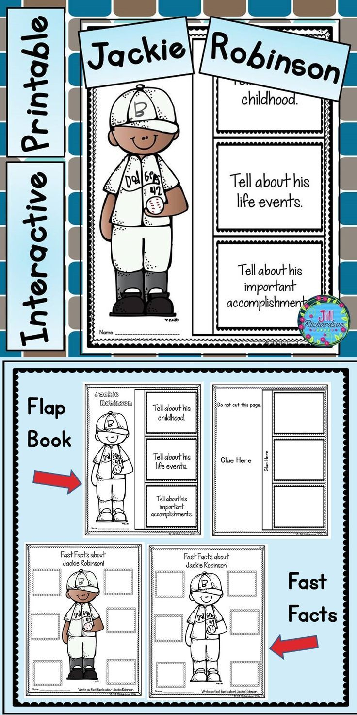 Jackie Robinson Writing - Jackie Robinson Activities | *tpt Anything | Free Printable Worksheets On Jackie Robinson