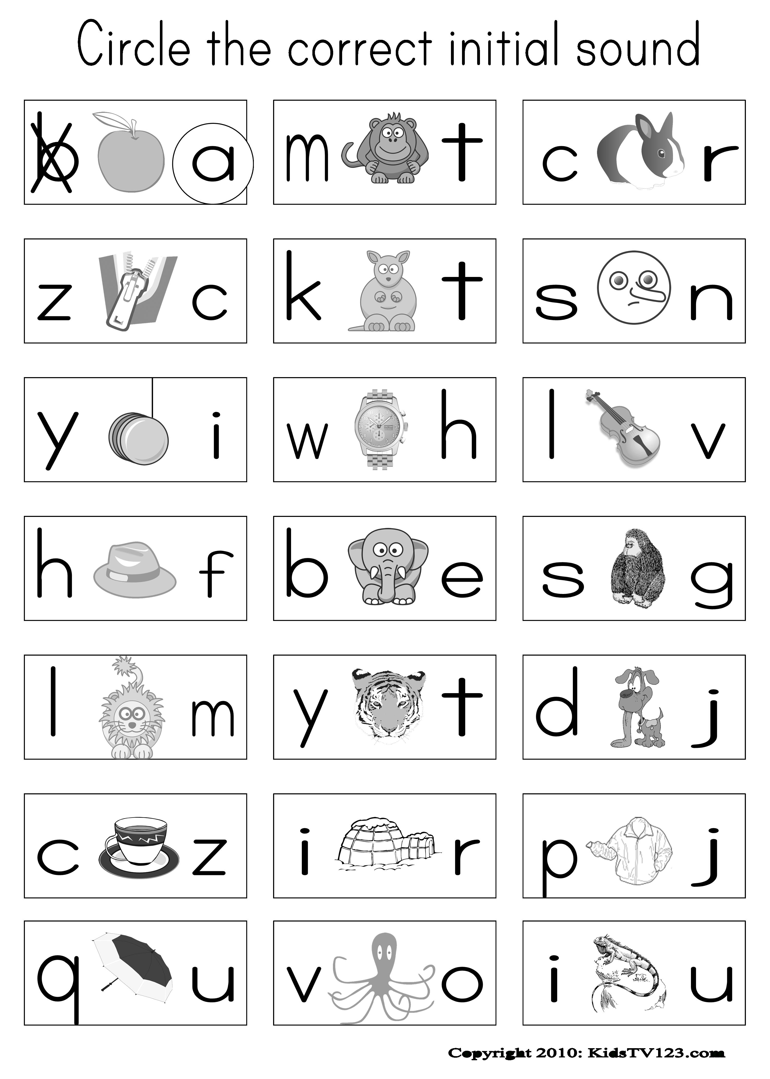 Kidstv123 - Phonics Worksheets | Classroom-Reading & Phonics | Phonics Worksheets For Adults Printable