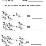 Kindergarten Dinosaur Worksheet Printable | Occupational Therapy <3 | Dinosaur Printable Worksheets