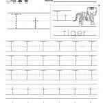 Kindergarten Free Printable Letter T Writing Practice Worksheet For | Free Printable Spanish Alphabet Worksheets