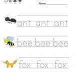 Kindergarten Free Spelling And Vocabulary Worksheet Printable | Kids | Spelling For Kids Worksheets Printable