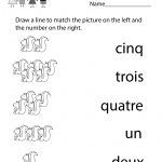 Kindergarten French Numbers Worksheet Printable | Français Pour Les | Free Printable French Worksheets For Grade 4