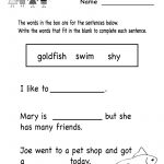 Kindergarten Grammar Worksheet For Kids Printable | Teaching | Printable English Worksheets