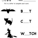 Kindergarten Halloween Missing Letter Worksheet Printable | Preschool Halloween Worksheets Printables
