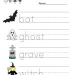 Kindergarten Halloween Spelling Worksheet Printable | Free Halloween | Free Printable Halloween Worksheets