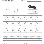 Kindergarten Letter A Writing Practice Worksheet Printable | Free Printable Letter Practice Worksheets