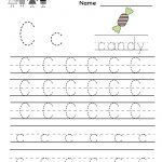 Kindergarten Letter C Writing Practice Worksheet Printable | Free Printable Preschool Worksheets Letter C