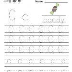 Kindergarten Letter C Writing Practice Worksheet Printable | Free Printable Preschool Worksheets Letter C